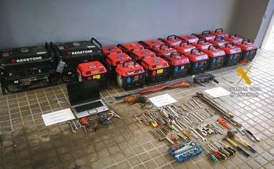 Cuatro detenidos de una banda que robaba en viviendas, fincas y naves industriales del Valle del Guadalhorce