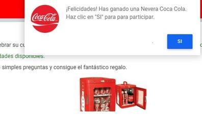 El bulo de la nevera gratuita de edición limitada de Coca Cola
