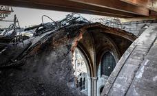 La catedral de Notre Dame, tres meses después de su gran incendio
