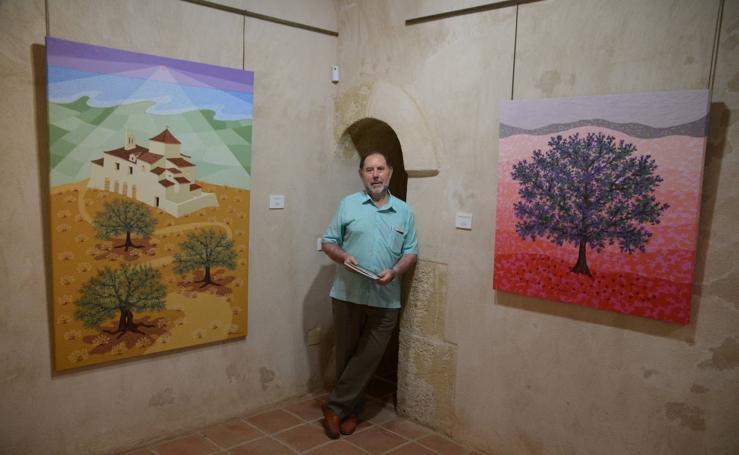 La obra 'El alma del color' de Evaristo Guerra, en la Casa Fuerte Bezmiliana