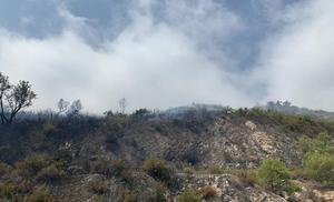 Extinguen el incendio de Ojén que ha quemado 1,5 hectáreas de matorral