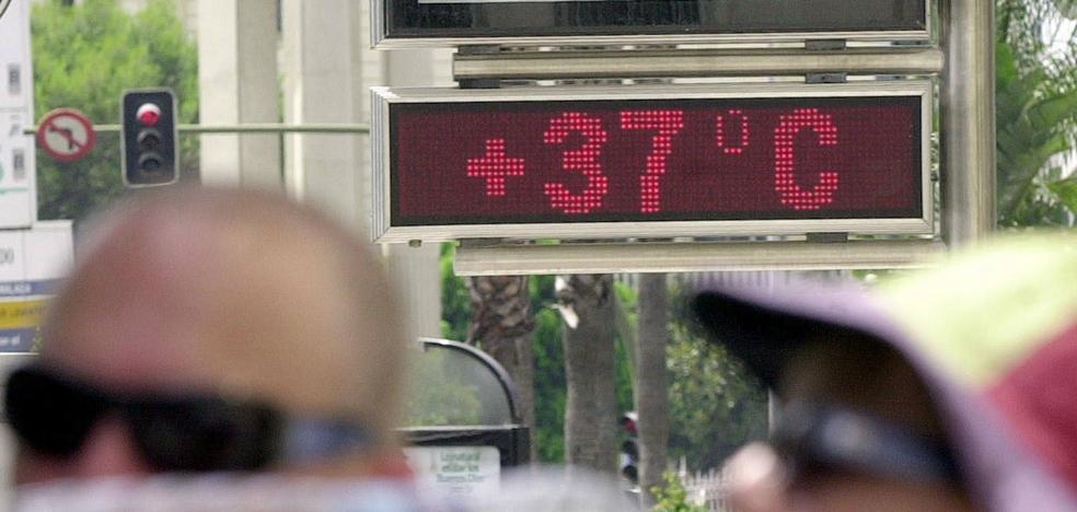 El terral dispara los termómetros hoy en Málaga