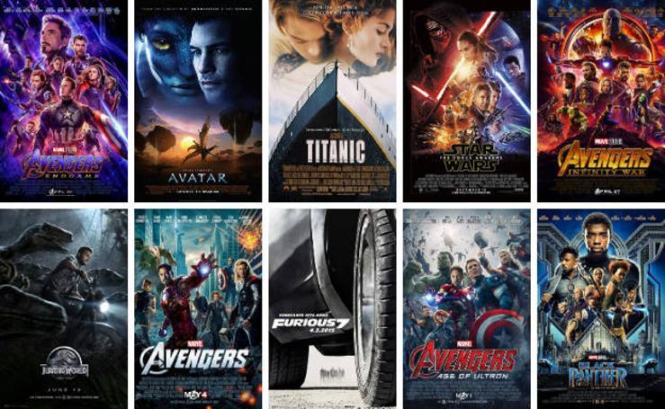 Las 20 películas más taquilleras de la historia