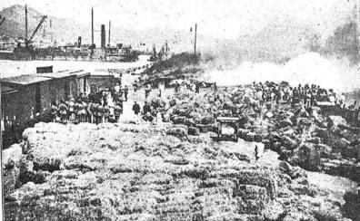 El gran incendio del puerto de 1919