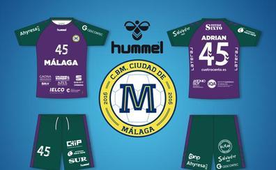 Verde y morado para la segunda equipación del Balonmano Ciudad de Málaga
