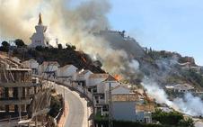 Extinguido el incendio declarado junto a la Estupa budista de Benalmádena