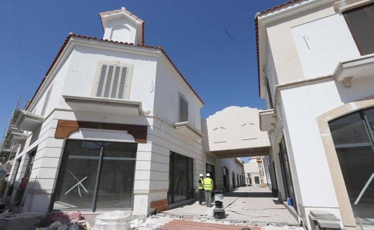 Obras del futuro outlet de lujo de Plaza Mayor