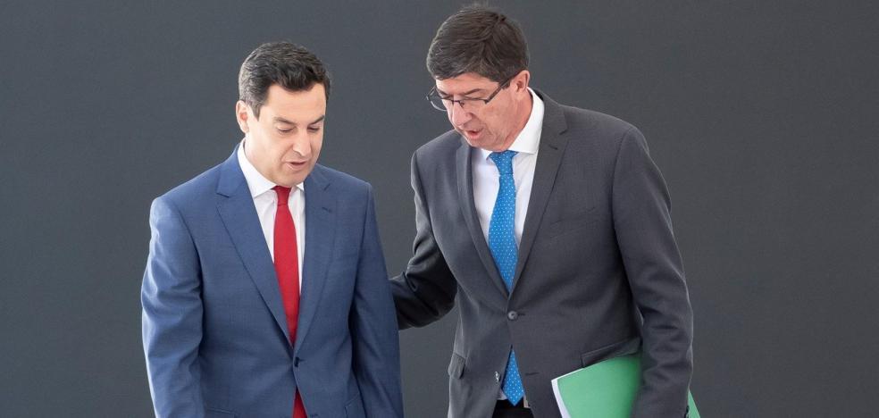 Moreno y Marín se fijan como reto para el nuevo curso político andaluz la creación de empleo