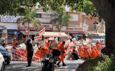 Los trabajadores califican de «éxito» el seguimiento de la huelga de ambulancias en Málaga