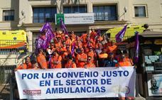 La huelga de los trabajadores del sector de las ambulancias llega a su tercer día sin acuerdo