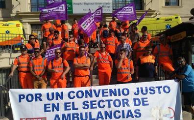 La huelga de los trabajadores del sector de las ambulancias se enroca y entra en su séptima jornada