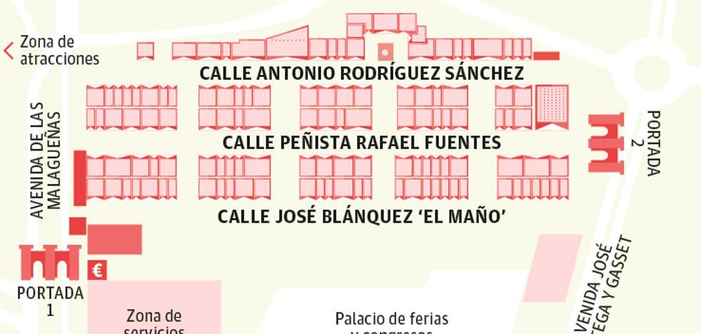 Listado de todas las casetas de la Feria de Málaga 2019 en el real del Cortijo de Torres