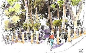Málaga a trazos: Un oasis en la Victoria
