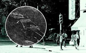 El primer accidente de automóvil en Málaga