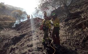 Controlado el incendio forestal en Torrox