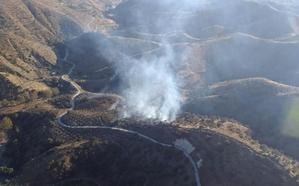 Controlado el incendio forestal en el Arroyo Comendador de Pizarra