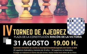 Rincón de la Victoria celebra el IV Torneo de Ajedrez con el objetivo de superar el centenar de participantes del pasado año