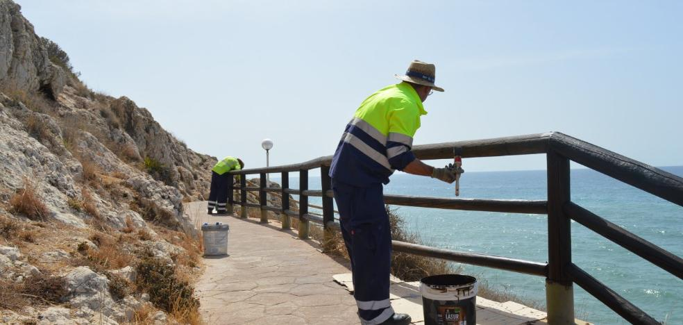 THE IMPROVEMENTS BEGIN IN THE CLIFFS PATH
