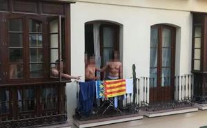Dos grupos de jóvenes se enfrentan a ladrillazos por una bandera en el Centro de Málaga