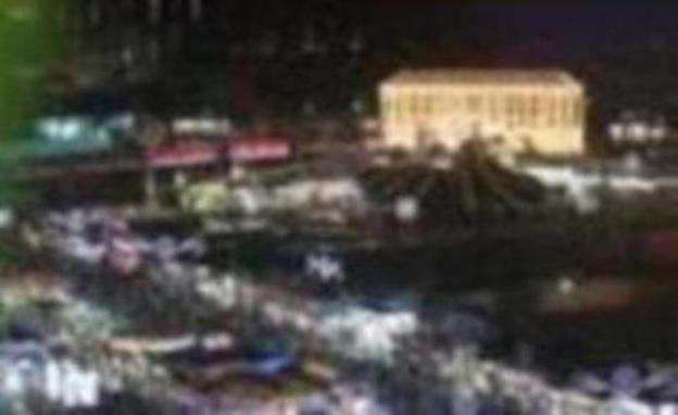 Ambiente nocturno en el Real de la Feria de Málaga