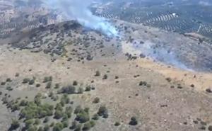 Controlado un incendio forestal en un paraje de Cuevas de San Marcos