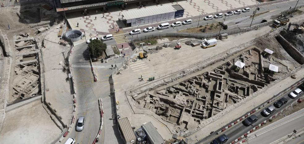 Parte de los restos arqueológicos encontrados en las obras del metro se expondrán en Callejones del Perchel