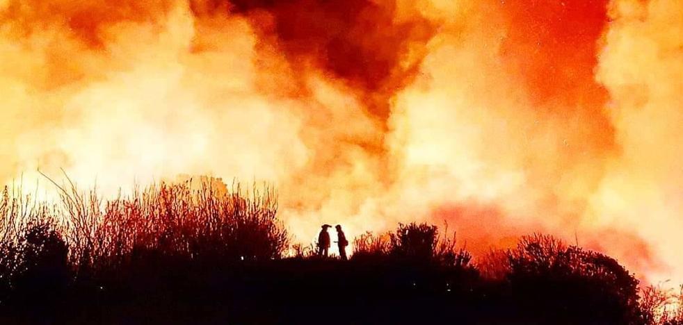 El Infoca da por controlado el incendio de Estepona