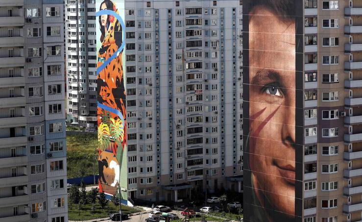 60 artistas de todo el mundo decoran las calles de Rusia con grafitis