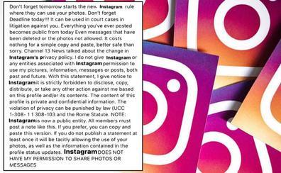 Una noticia de 'Channel 13 News': el bulo de Instagram que, desde 2012, todo el mundo copia y pega en su muro