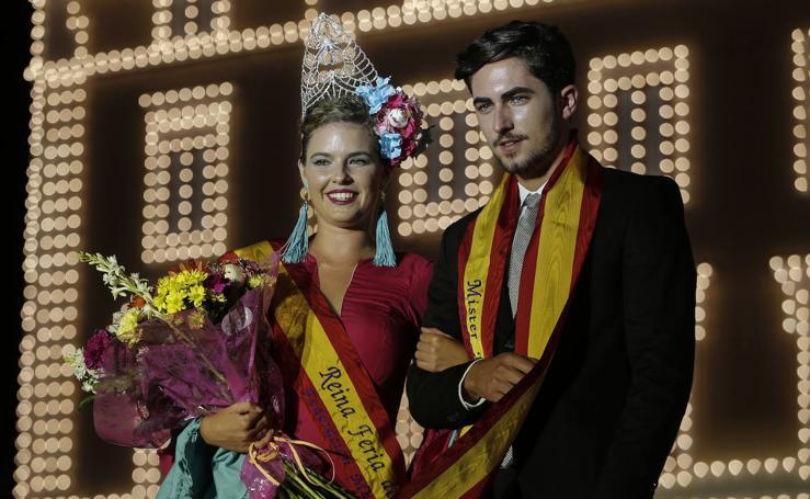Sara Meneses y José Ríos consiguen los títulos de Reina y Míster de la Feria de Málaga 2019