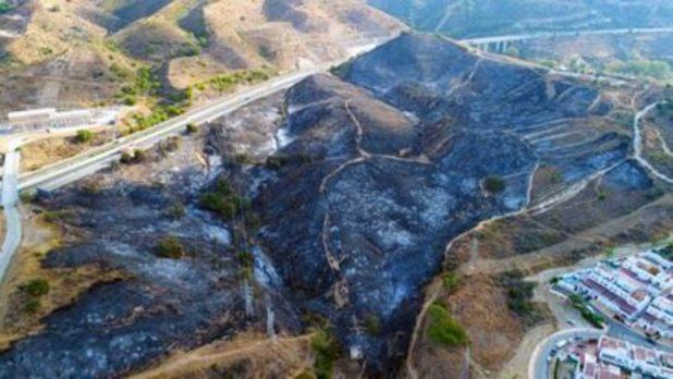 Extinguido el incendio de Marbella que obligó al desalojo de 40 viviendas el jueves