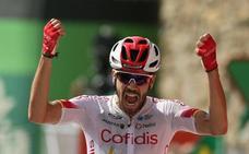 Jesús Herrada se impone en el esprint a Dylan Teuns, el nuevo líder de la Vuelta