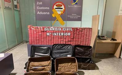Incautadas más de 3.500 cajetillas de tabaco de contrabando en el aeropuerto de Málaga