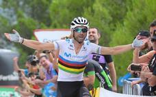 Valverde gana la etapa y 'Supermán' López, nuevo líder