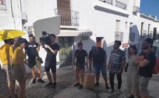 Los actores Alberto Amarilla y Noemí Ruiz protagonizan un cortometraje rodado en Frigiliana