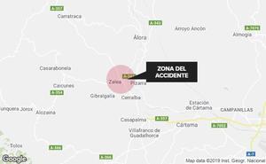 Fallece una persona y otras dos resultan heridas en el choque entre una furgoneta y un turismo en Pizarra