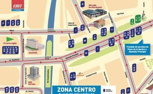 ¿Dónde están las nuevas paradas de autobús de la EMT en la Alameda Principal?