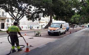 Urbanismo tinta en un tono rojizo los carriles para tráfico privado de la Alameda Principal