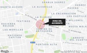 Hasta 4 kilómetros de retención por un accidente en el falso túnel de Carlos Haya