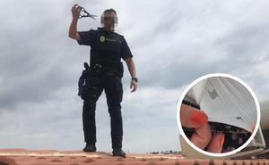 Arrestan a un hombre que rajó con unas tijeras la camiseta de una mujer para robarle el bolso en Ciudad Jardín