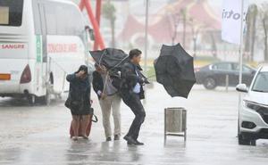 Aviso rojo por fuertes tormentas y lluvias en Andalucía