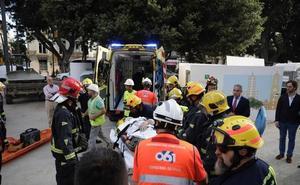 Tres obreros heridos en un accidente en el túnel del metro en la Alameda