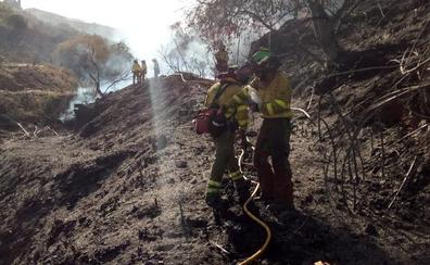 Imputado por provocar un incendio en Torrox que calcinó 7,5 hectáreas de matorral, cultivos y monte bajo