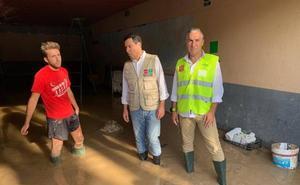 Moreno inicia en el Trabuco una ronda de visitas a las zonas dañadas por el temporal: «Hay 133 municipios afectados»