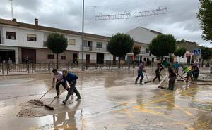 Villanueva del Trabuco, anegada por las fuertes lluvias