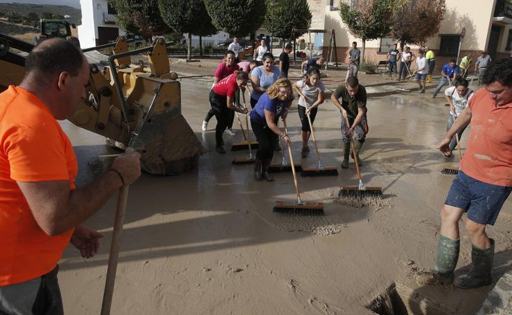 Los efectos de la tromba de agua en Málaga, en imágenes