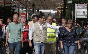 La Diputación activa ayudas especiales para los ayuntamientos afectados por las fuertes lluvias