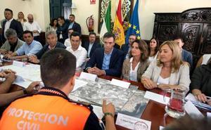 Sánchez y Moreno exhiben coordinación institucional en la gota fría