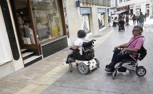 Calles peatonales e intransitables en el Centro de Málaga