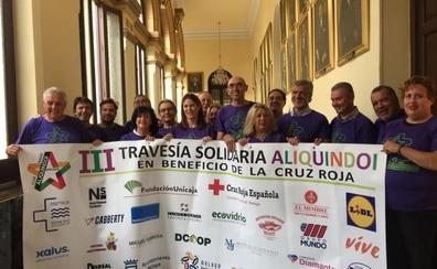 Losada y Zorrilla presentan juntos la III Travesía a nado Aliquindoi, que se celebra este domingo en la Misericordia